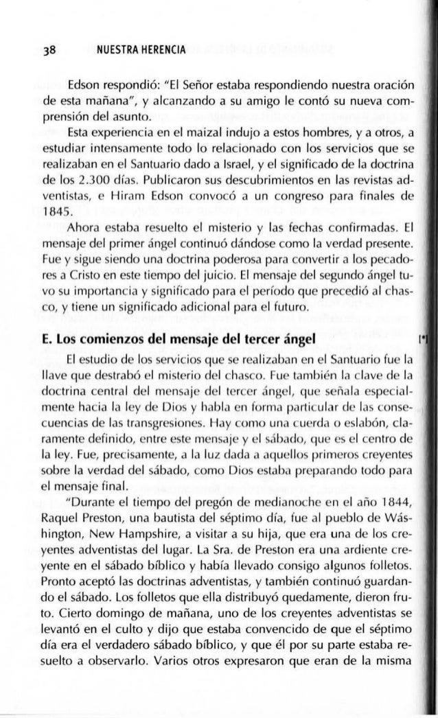 """SURGIMIENTO DE LA IGLESIA REMANENTE (1844·1852) 41 los profetas"""". Y, tal como se predecía en Apocalipsis 12:17 y 19:10, la..."""