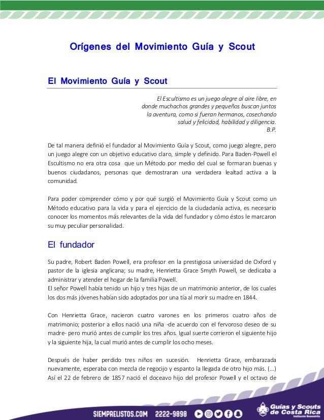 Historia Del Movimiento Guía Y Scout Mundial