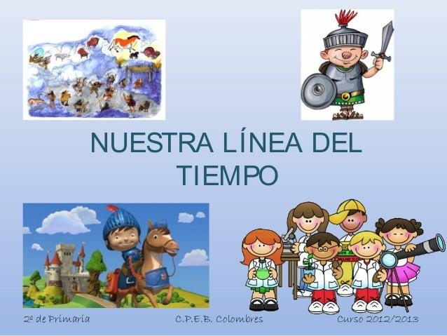 NUESTRA LÍNEA DELTIEMPO2º de Primaria C.P.E.B. Colombres Curso 2012/2013