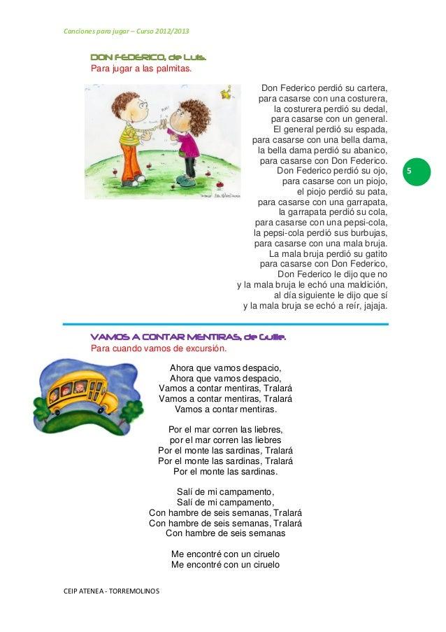 Nuestras Canciones Para Jugar 3º