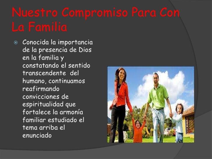 Nuestro compromiso para con la familia jesus david zuluaga Felipe Gomez