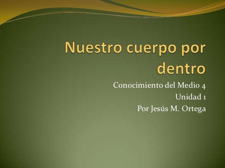 Conocimiento del Medio 4                 Unidad 1      Por Jesús M. Ortega