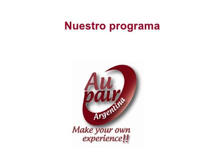 Nuestro programa