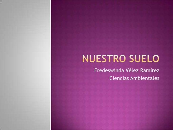Nuestro suelo<br />Fredeswinda Vélez Ramírez<br />Ciencias Ambientales<br />