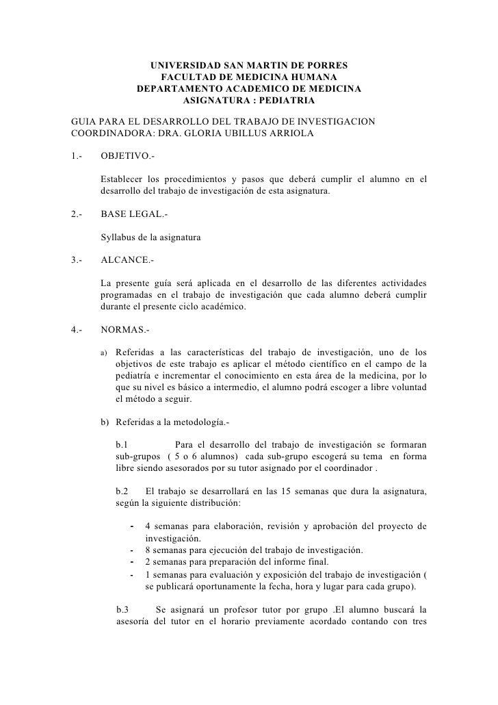 UNIVERSIDAD SAN MARTIN DE PORRES                       FACULTAD DE MEDICINA HUMANA                   DEPARTAMENTO ACADEMIC...