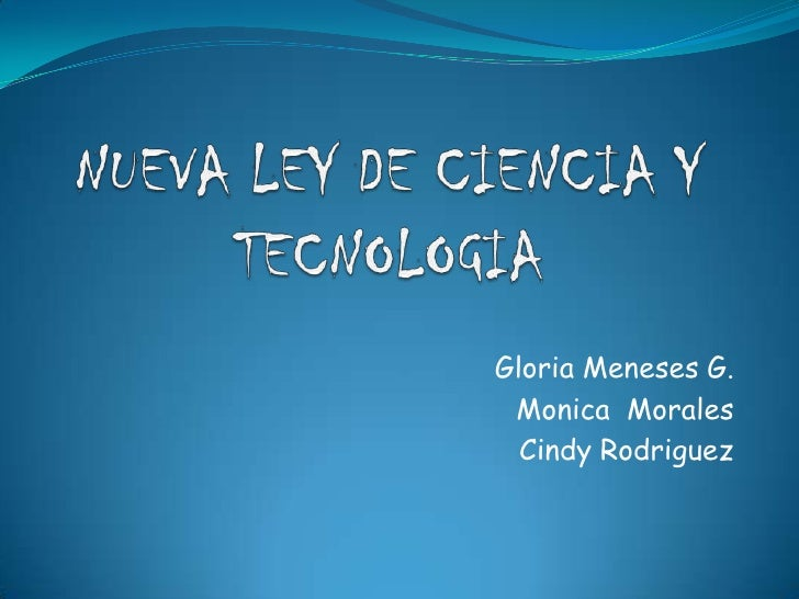 Gloria Meneses G.  Monica Morales   Cindy Rodriguez