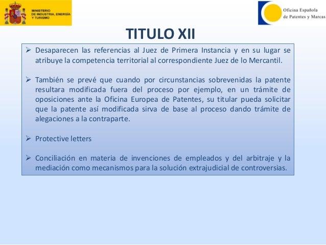 Nueva ley de patentes redit m jos de concepci n oepm for Oficina europea de patentes