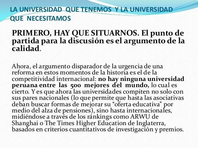 Proyecto nueva ley universitaria peru pdf