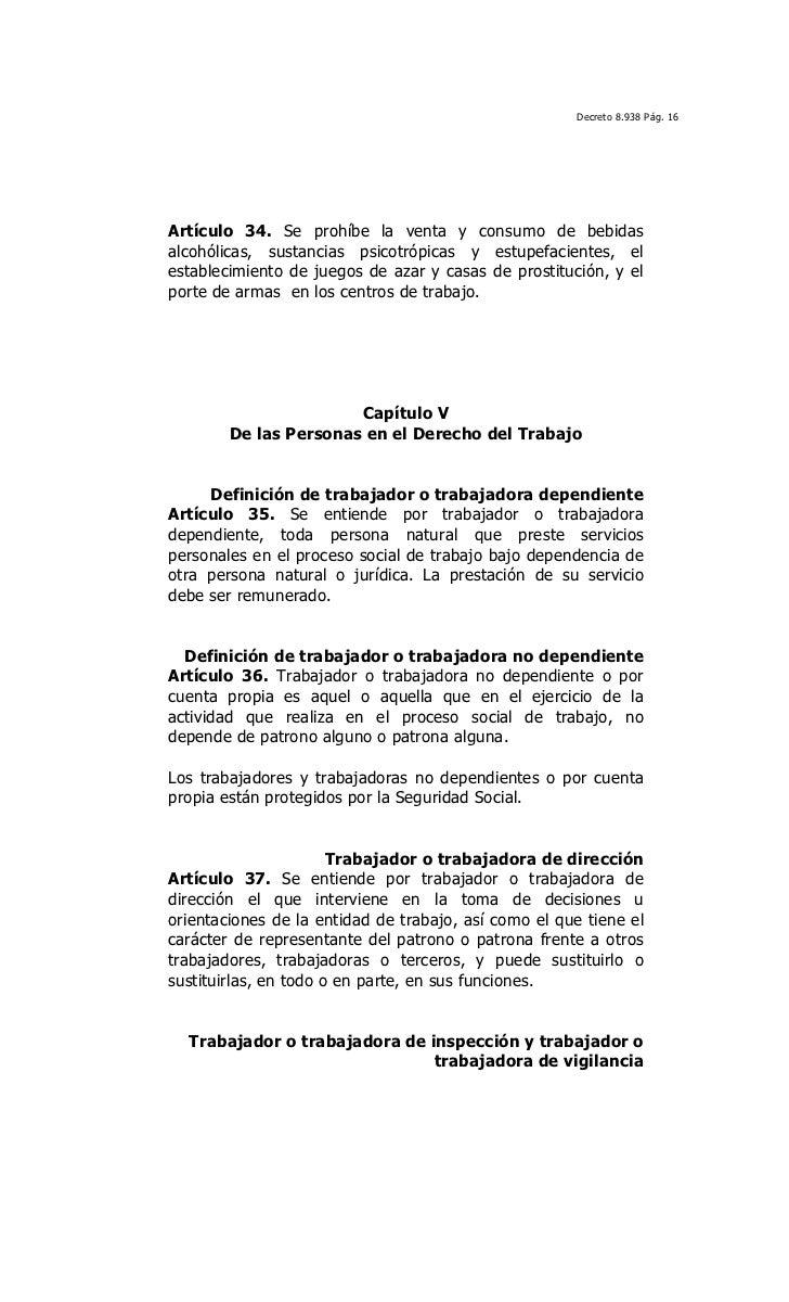 Actividades prohibidas en los centros de trabajo 16