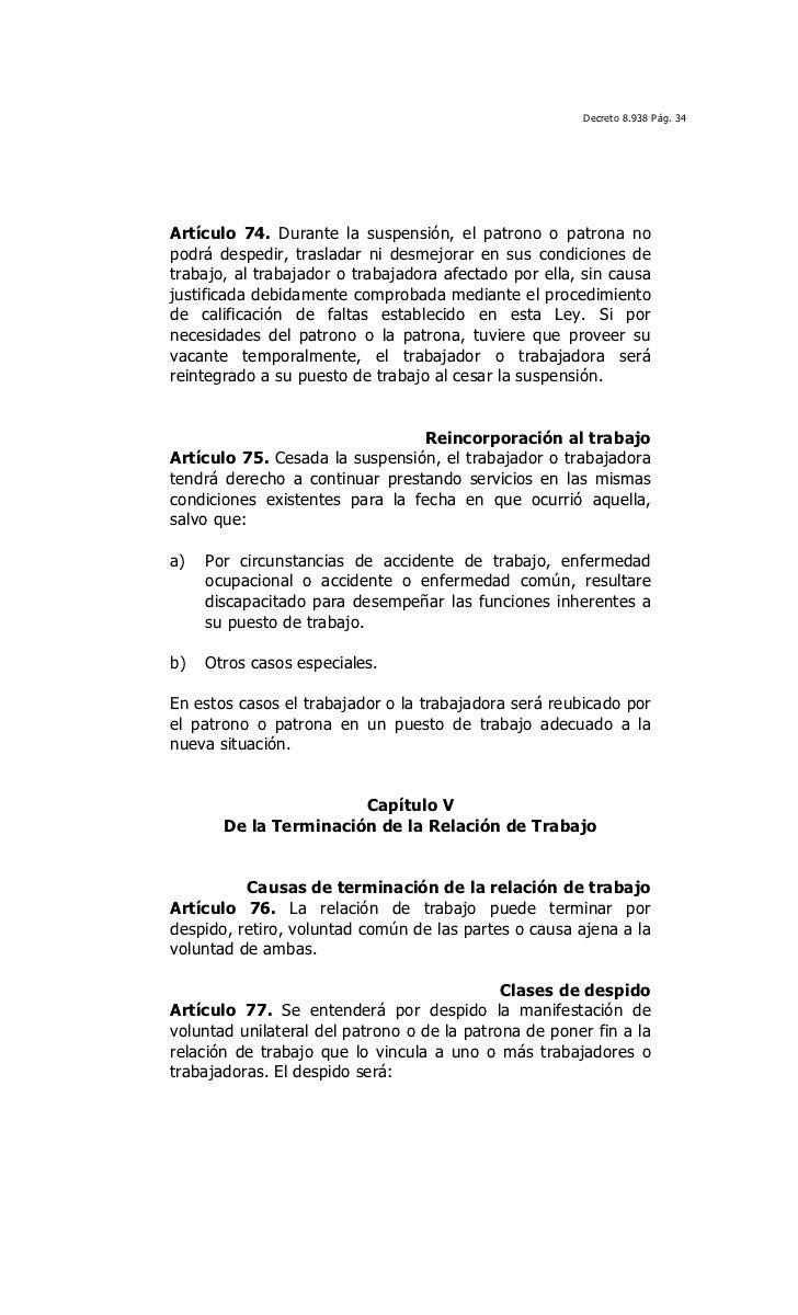Ley Orgánica del Trabajo, los trabajadores y las trabajadoras 2012
