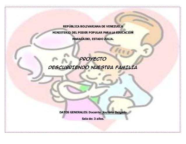 REPÚBLICA BOLIVARIANA DE VENEZUELA MINISTERIO DEL PODER POPULAR PARA LA EDUCACIÓN            MARACAIBO, ESTADO ZULIA.     ...