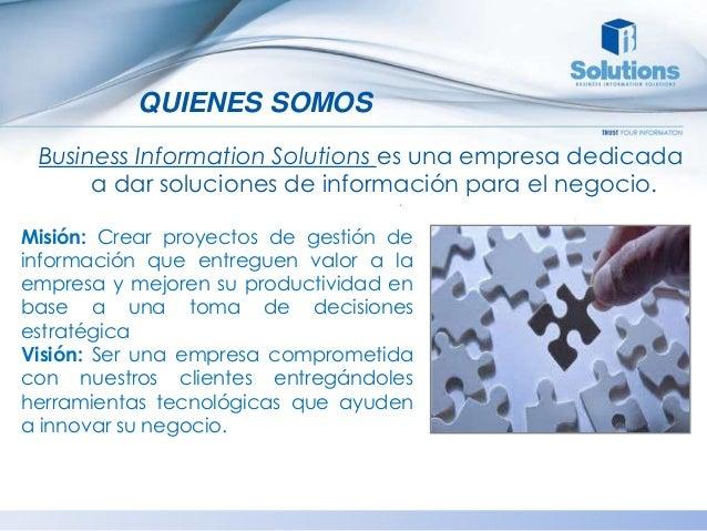 Bi Solutions S.A - Productos y Servicios Slide 3