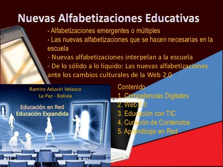 - Alfabetizaciones emergentes o múltiples       - Las nuevas alfabetizaciones que se hacen necesarias en la       escuela ...