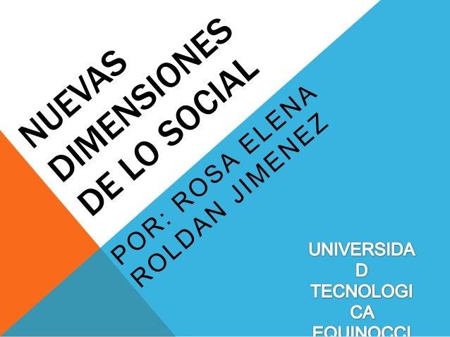 Nuevas dimensiones de lo social