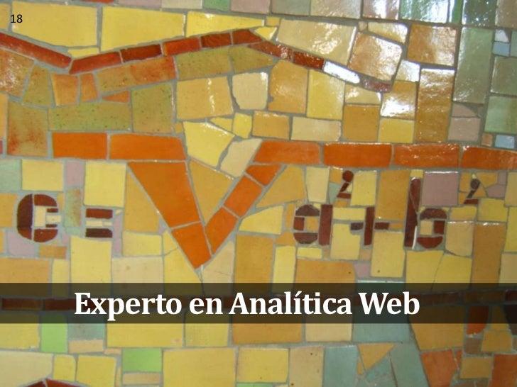 Experto en Analítica Web<br />18<br />