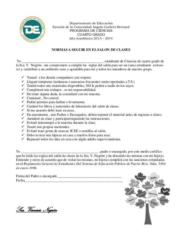 Reglas del salon de clases for 5 reglas del salon de clases