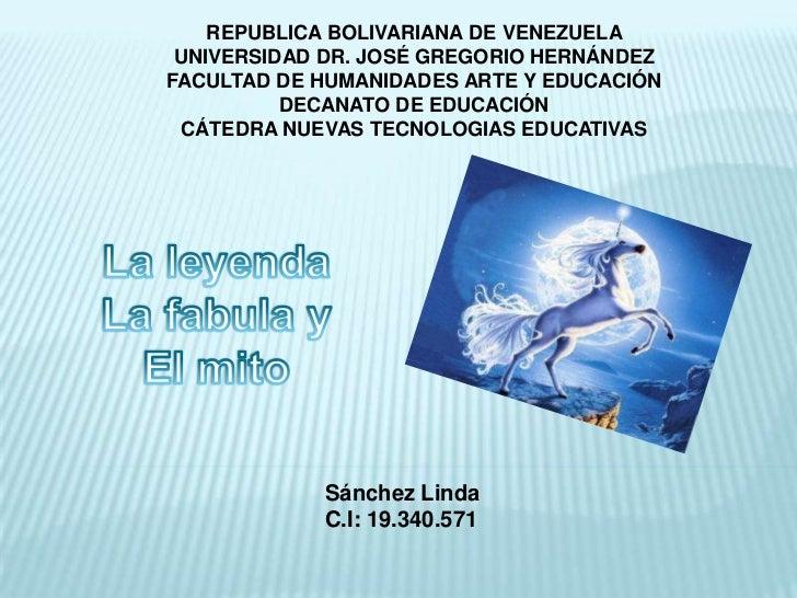 REPUBLICA BOLIVARIANA DE VENEZUELA UNIVERSIDAD DR. JOSÉ GREGORIO HERNÁNDEZFACULTAD DE HUMANIDADES ARTE Y EDUCACIÓN        ...