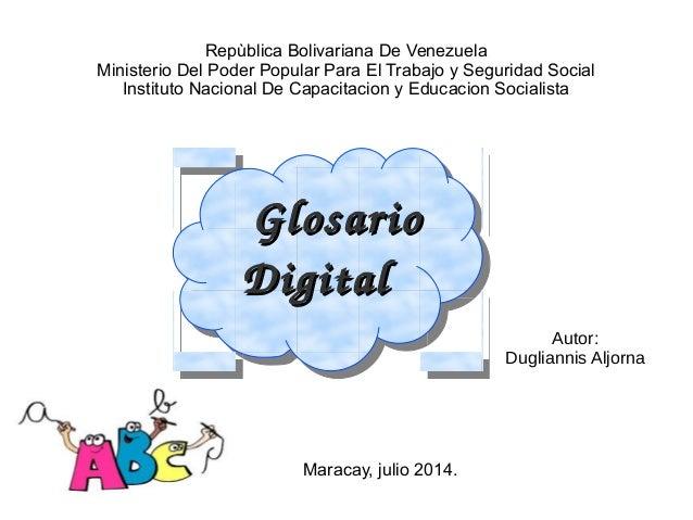 Repùblica Bolivariana De Venezuela Ministerio Del Poder Popular Para El Trabajo y Seguridad Social Instituto Nacional De C...