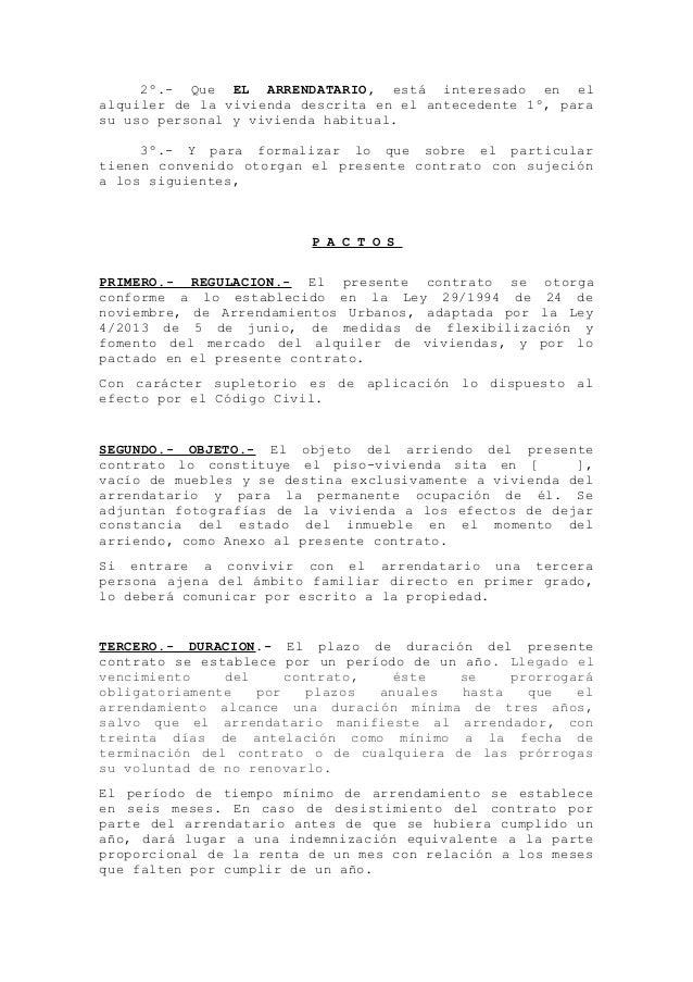 Modelo Contrato De Arrendamiento De Vivienda Con Avalista
