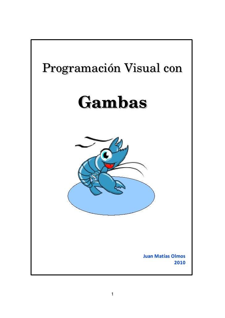 ProgramaciónVisualcon     Gambas                Juan Matías Olmos                             2010           1