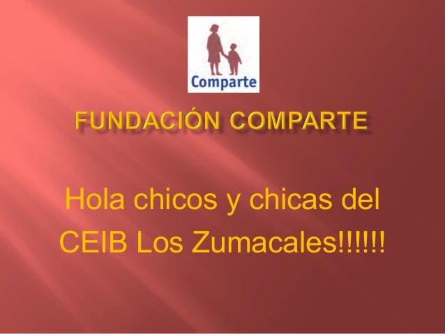 Hola chicos y chicas delCEIB Los Zumacales!!!!!!