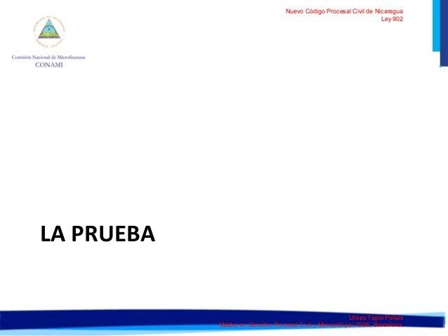 Nuevo Código Procesal Civil de Nicaragua  Ley 902