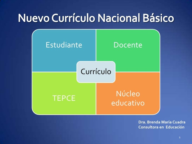 Nuevo curr culo nacional b sico presentaci n for Curriculo basico nacional