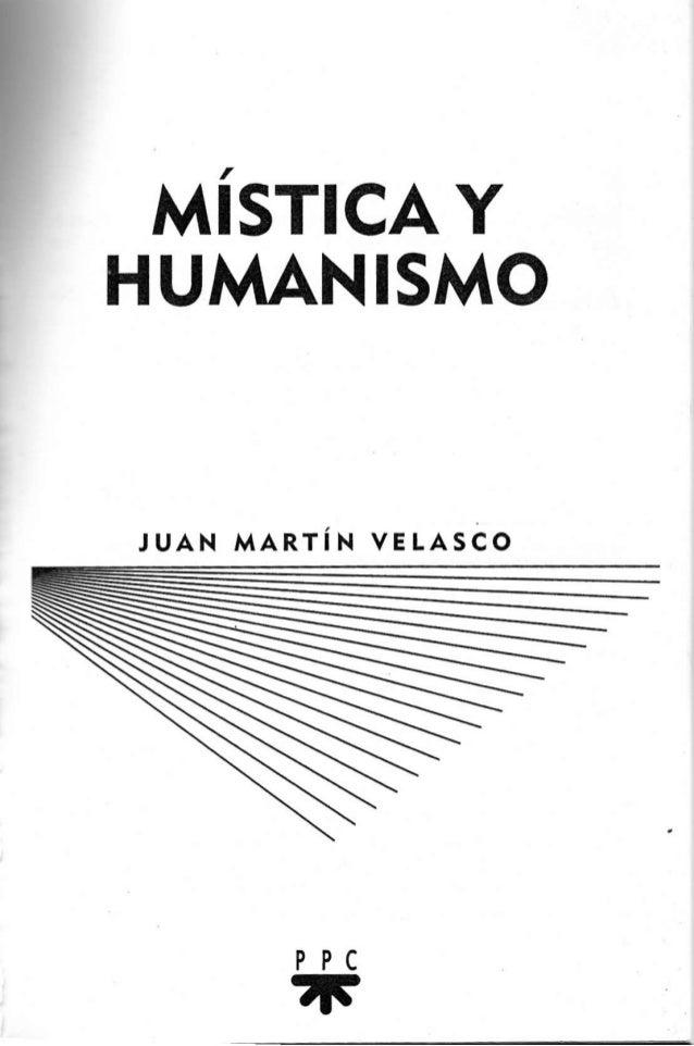 MISTICAY HUMAN¡SMO  JUAN MARTiN v¡LASco  PPC ñ