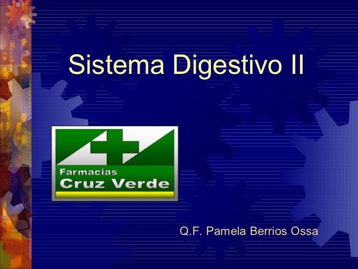 Sistema Digestivo II         Q.F. Pamela Berrios Ossa