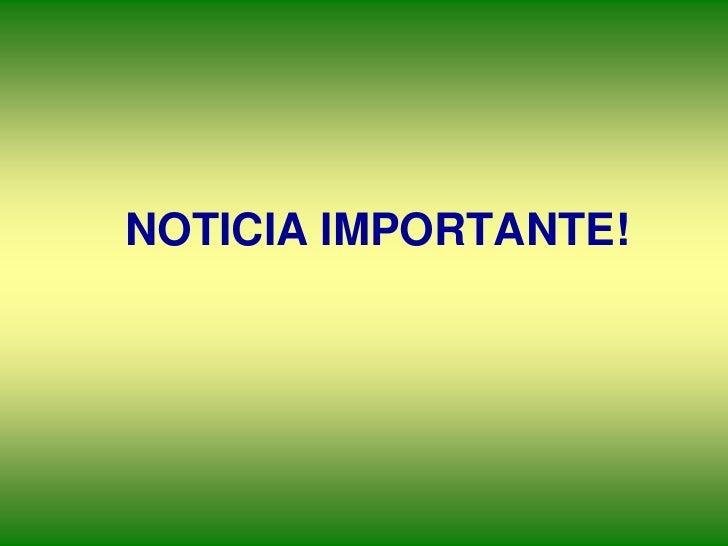 NOTICIA IMPORTANTE!