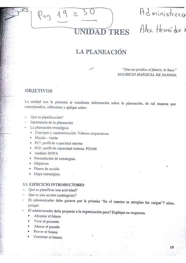 LECTURA PLANEACION