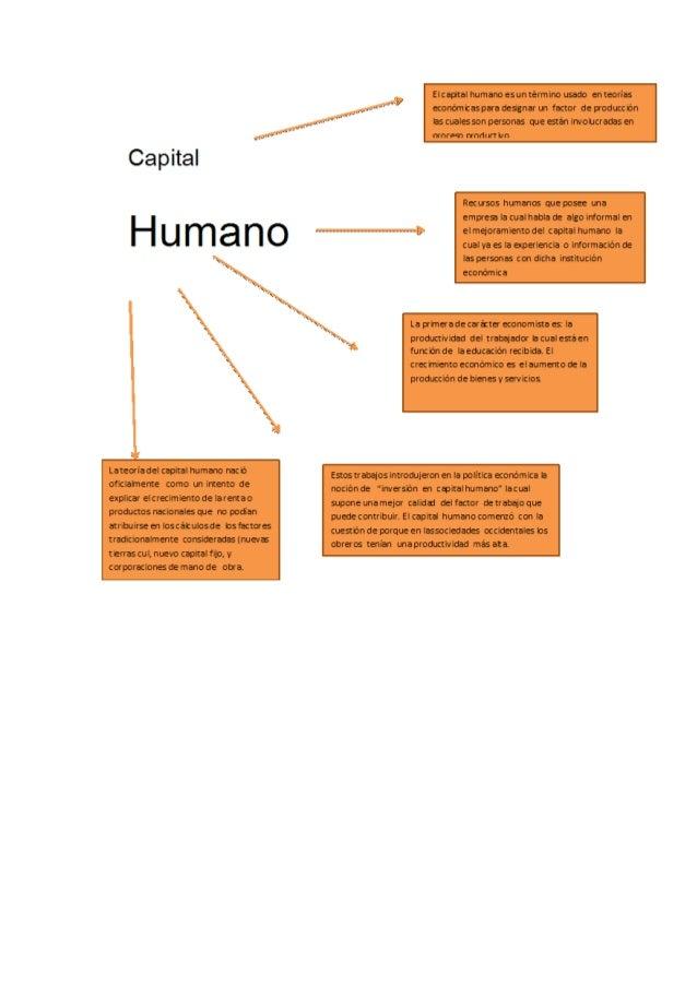 esquema sobre el capital humano