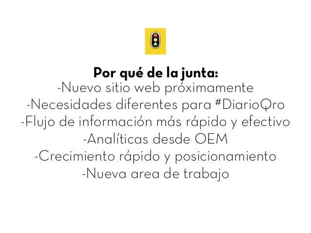 Nuevo Flujo de Información DiarioQro Slide 2