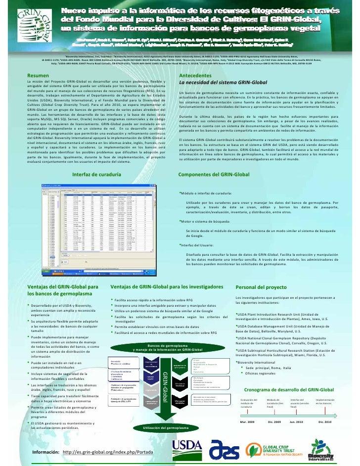 1BioversityInternational,Cali,Colombia;2BioversityInternational,G212AgronomyHallIowaStateUniversityAmes,IA5...