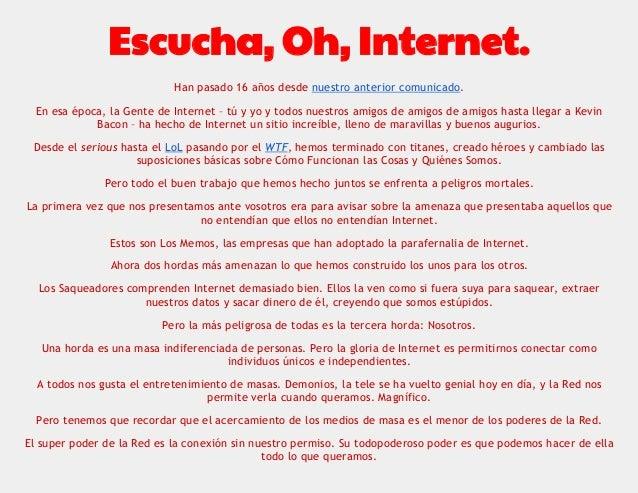 Nuevo Manifiesto Cluetrain traducido al español Slide 2