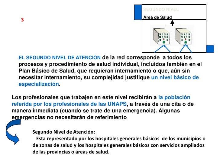 SEGUNDO NIVEL<br />Área de Salud<br />3<br />EL SEGUNDO NIVEL DE ATENCIÓNde la red corresponde  a todos los procesos y pro...