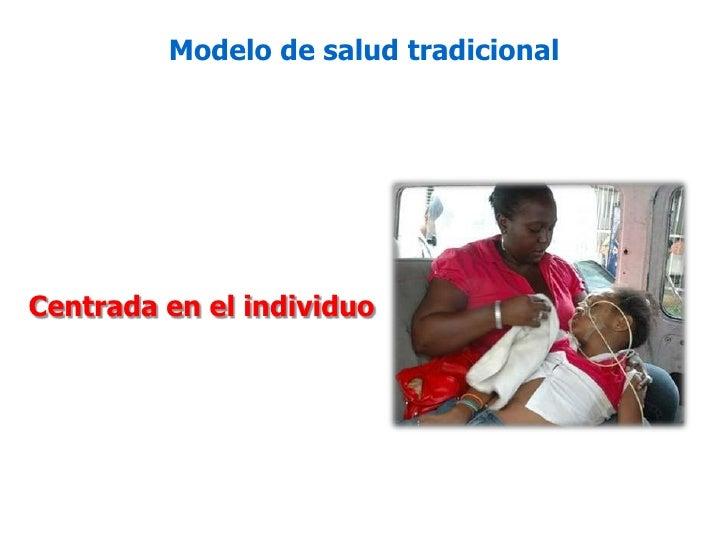 Modelo de salud tradicional<br />Centrada en el individuo<br />