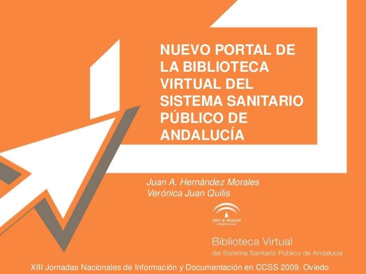 NUEVO PORTAL DE                                LA BIBLIOTECA                                VIRTUAL DEL                   ...
