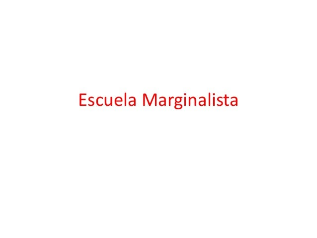 Escuela Marginalista