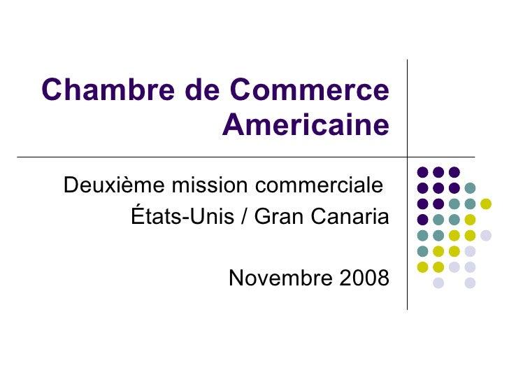 Chambre de Commerce Americaine Deuxième mission commerciale  États-Unis / Gran Canaria Novembre 2008