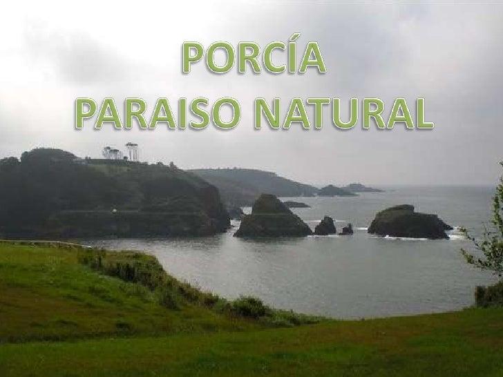 PORCÍA<br />PARAISO NATURAL<br />