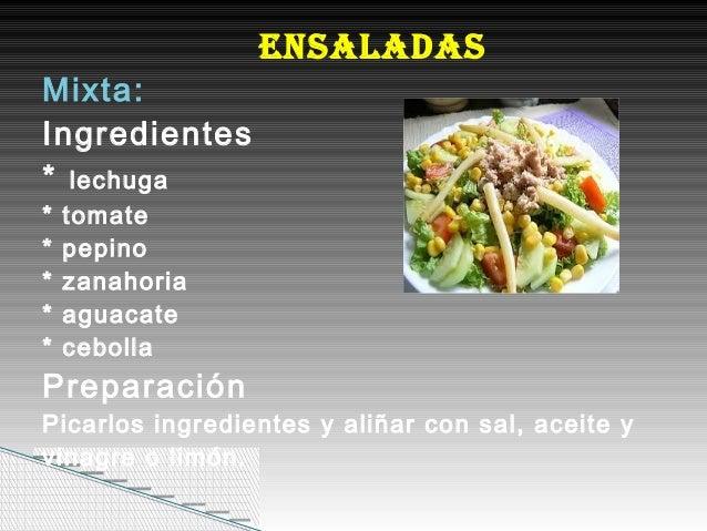 Recetas de comidas faciles de preparar for Ingredientes para comida
