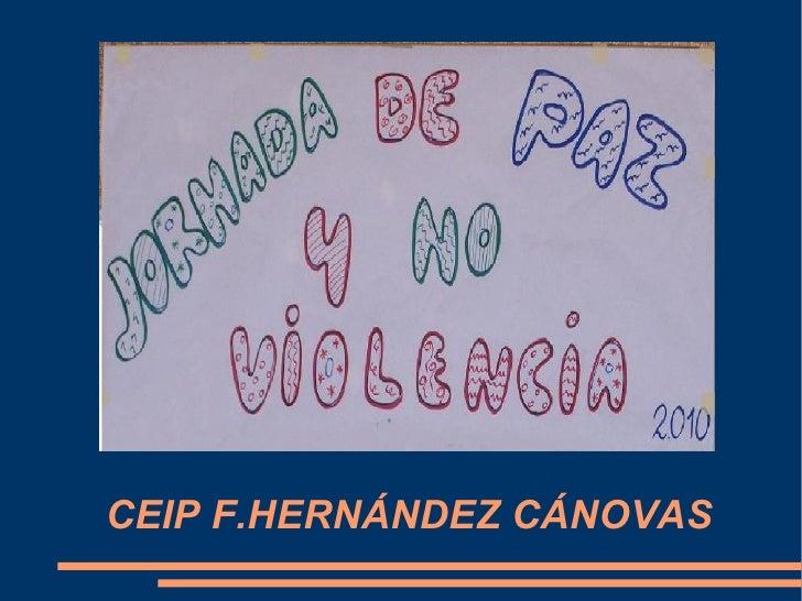 CEIP F.HERNÁNDEZ CÁNOVAS