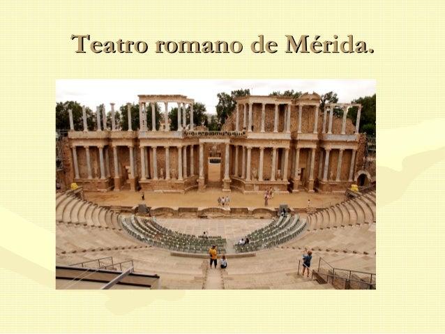 Teatro romano de Mérida.Teatro romano de Mérida.