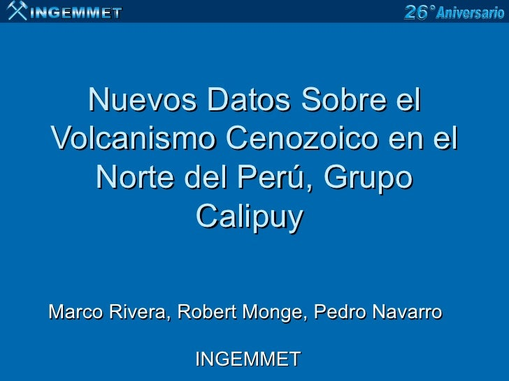 Nuevos datos sobre el volcanismo cenozoico en el norte del for Grupo el norte