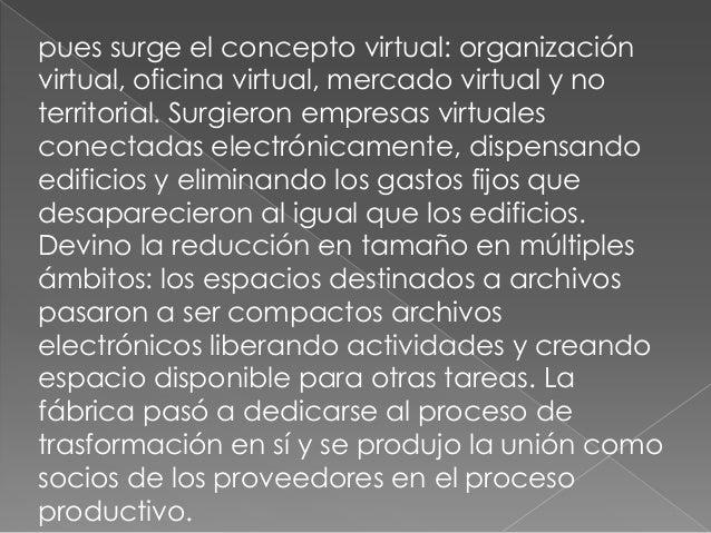    1- Conocimiento   2- Digitalización   3- Virtualización   4- Moleculizacion   5- Integración, redes conectadas   ...