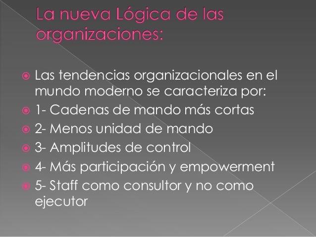 6- Énfasis en los equipos de trabajo7- La organización como un sistema deunidades de negocios independientes8- Infoestruct...