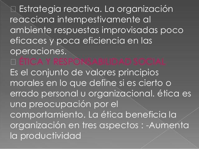 -Mejora la salud organizacional-Minimización de la reglamentación.gubernamental.CÓDIGO DE ÉTICA Es una declaración formal ...