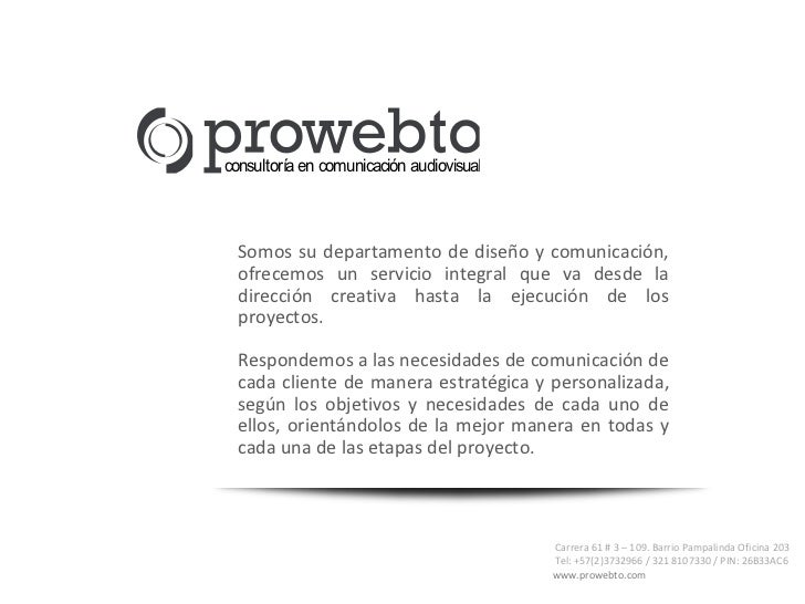 consultoría en comunicación audiovisual  Somos su departamento de diseño y comunicación,  ofrecemos un servicio integral q...