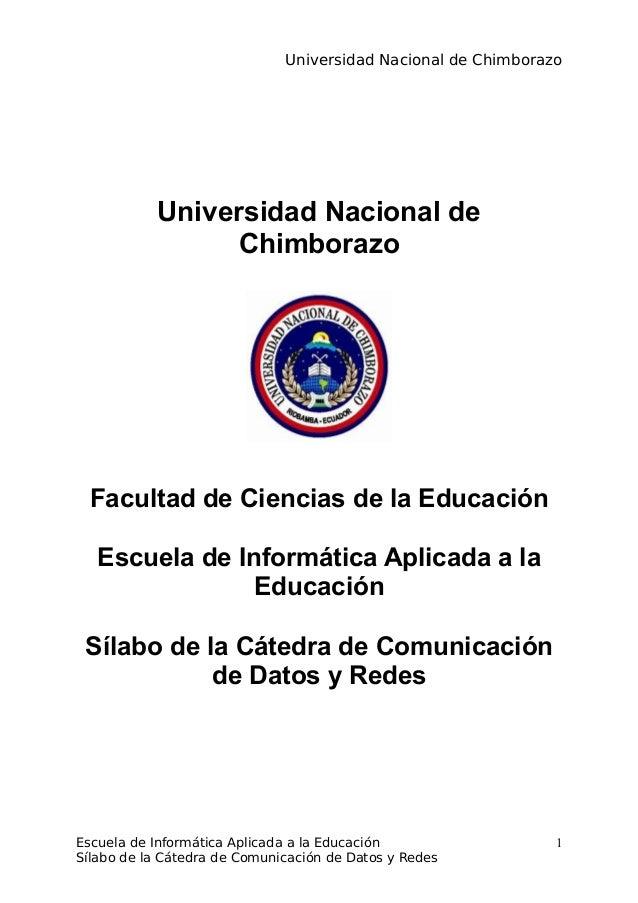 Universidad Nacional de ChimborazoUniversidad Nacional deChimborazoFacultad de Ciencias de la EducaciónEscuela de Informát...